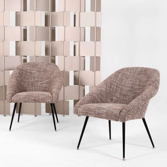 Midcentury woven fleck armchair image